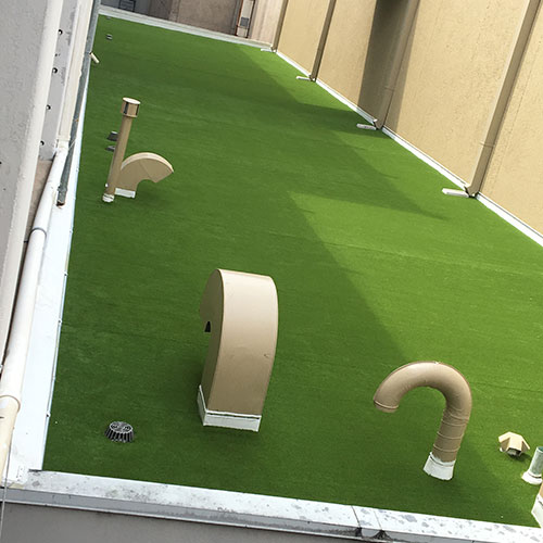 SynLawn artificial turf on rooftop