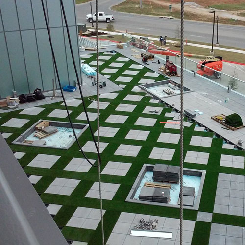 synlawn rooftop square hash pattern